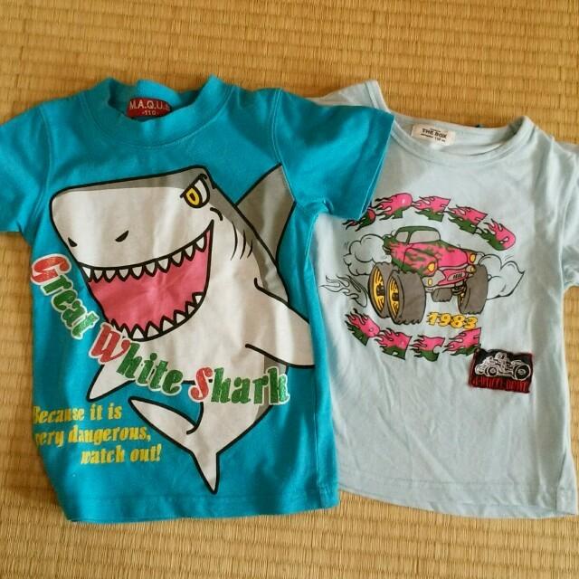 T-shirt キッズ 4枚組 110  キッズ/ベビー/マタニティのキッズ服 男の子用(90cm~)(Tシャツ/カットソー)の商品写真