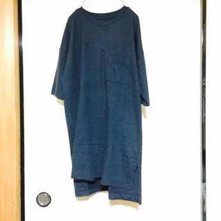 ムジルシリョウヒン(MUJI (無印良品))の五分袖チュニック*最終値下げ*(Tシャツ(半袖/袖なし))