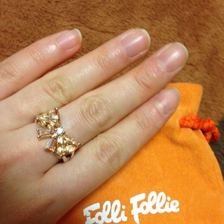 フォリフォリ(Folli Follie)のフォリフォリ オレンジリボンリング(リング(指輪))