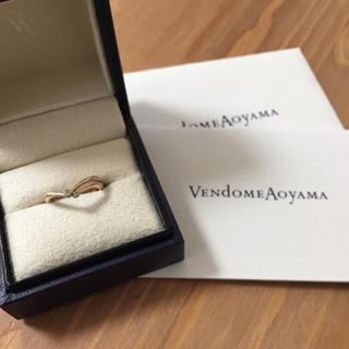 ヴァンドームアオヤマ(Vendome Aoyama)のヴァンドーム青山 18k ピンクゴールド×ダイヤモンド ピンキーリング(リング(指輪))