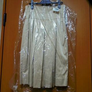 ニジュウサンク(23区)のキャットインザクローゼット ベージュ プリーツスカート ショップチャンネル(ロングスカート)