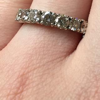 《4/2まで限定価格です》1カラット K18ホワイトゴールドダイヤモンドリング(リング(指輪))