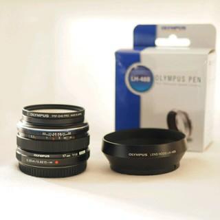 オリンパス(OLYMPUS)のrii様 専用 M.Zuiko 17mm F1.8 純正フード&フィルター 付(レンズ(単焦点))
