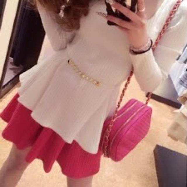 Delyle NOIR(デイライルノアール)のデイライル♡ピンクフレアミニスカート レディースのスカート(ミニスカート)の商品写真