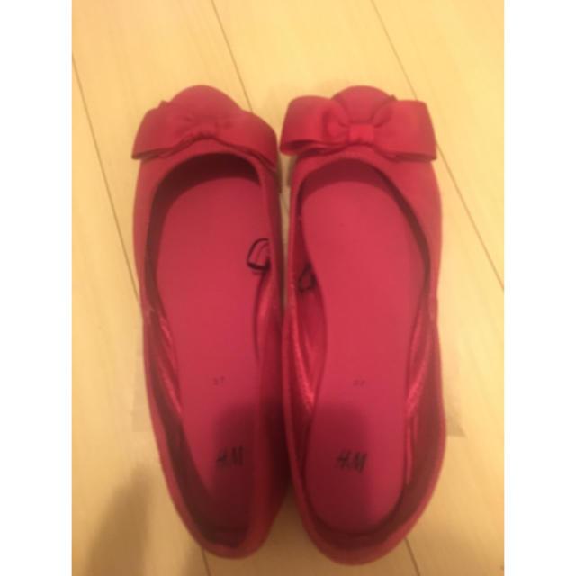 H&M(エイチアンドエム)のH&M  ペタンコパンプス  ピンク レディースの靴/シューズ(ハイヒール/パンプス)の商品写真