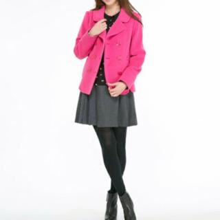 ドーリーガールバイアナスイ(DOLLY GIRL BY ANNA SUI)のアナスイ ピンク Pコート(ピーコート)