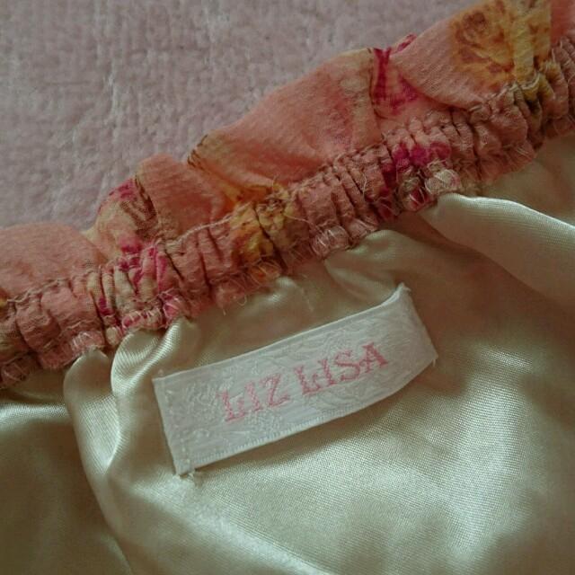 LIZ LISA(リズリサ)のリズリサ ローズ柄 トップス ピンク レディースのトップス(シャツ/ブラウス(半袖/袖なし))の商品写真