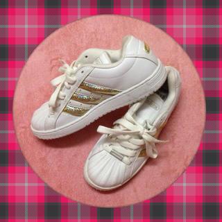 アディダス(adidas)のadidas♡ゴールドラインスニーカー(スニーカー)