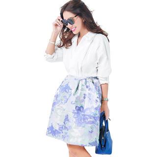 チェスティ(Chesty)の完売!チェスティ Pastel Jacquard Skirt ブルー サイズ1(ひざ丈スカート)