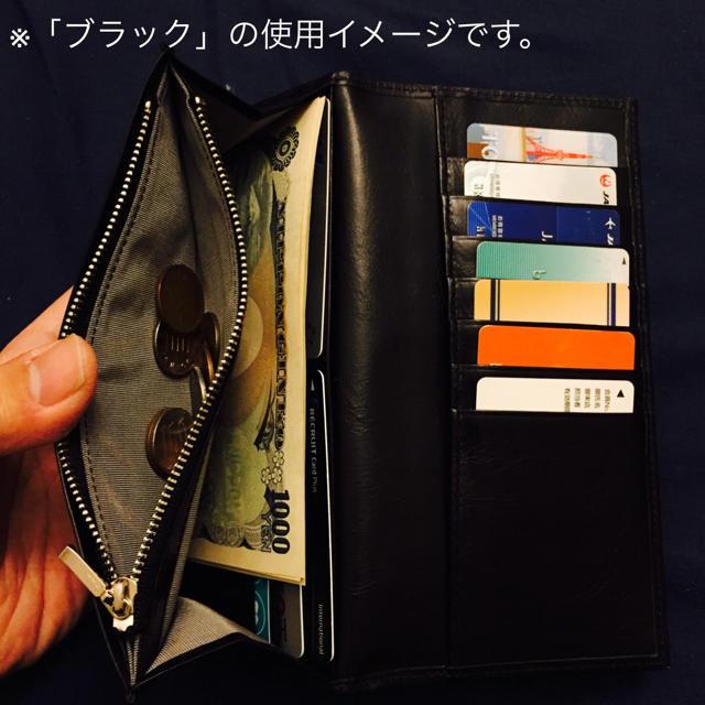 本革長財布 在庫処分セール【ブラック】最高級本革使用,送料無料 メンズのファッション小物(長財布)の商品写真
