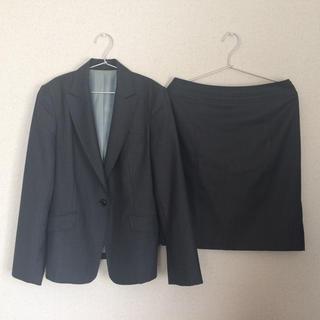 シップス(SHIPS)のSHIPS スーツ ジャケット スカート 上下 グレー ストライプ(スーツ)