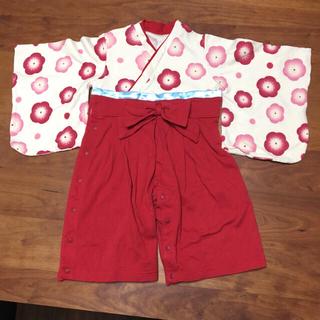 ベルメゾン(ベルメゾン)のりんご様専用  袴ロンパース(和服/着物)