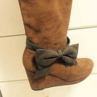 ブーツ用リボン  ブラウン(ブーツ)