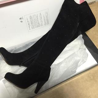 新品3.5万☆25 KariAng 控えめスタッズ♪ニーハイブーツ(ブーツ)