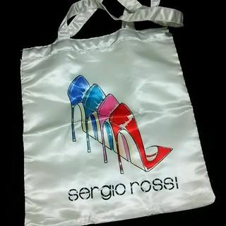 セルジオロッシ(Sergio Rossi)の未使用。セルジオロッシのサテンバック。(トートバッグ)
