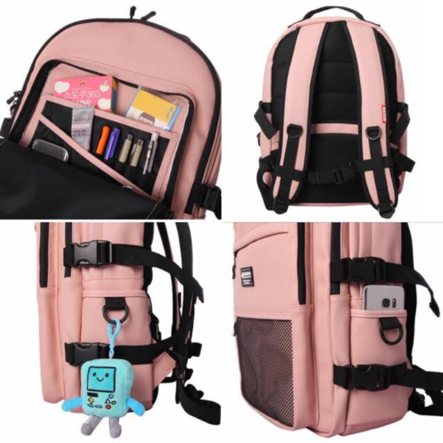 d05669cc36a7 韓国 BYMOSS☆マキシマム リュック ピンク レディースのバッグ(リュック/バックパック)の