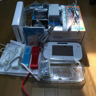 ニンテンドウ(任天堂)のwiiu 32g白 ファミリープレミアムセット 美品(家庭用ゲーム本体)