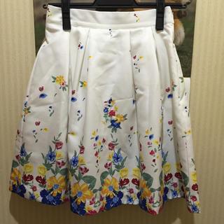 マーキュリーデュオ(MERCURYDUO)のパネルフラワー柄スカート(ミニスカート)
