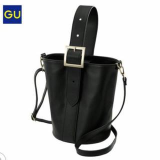 ジーユー(GU)のGU ワンハンドルショルダーバッグ バケツバッグ 新品 ブラック(ショルダーバッグ)