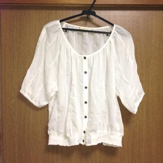 マジェスティックレゴン(MAJESTIC LEGON)の♡白トップス♡MAJESTICLEGON(カットソー(長袖/七分))