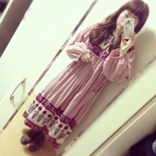 ヴィンテージ♡くすみピンクのワンピース(ロングワンピース/マキシワンピース)