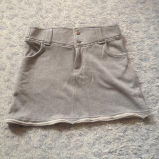 送料込み!グレーのスカート(ミニスカート)