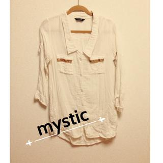 ミスティック(mystic)のmyticシャツワンピ(ひざ丈ワンピース)