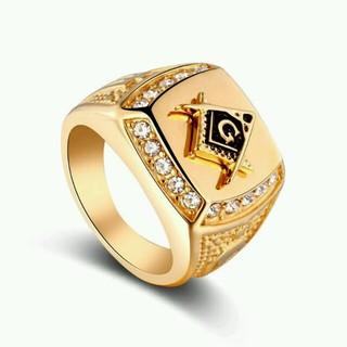 16号 メンズ フリーメイソン リング(リング(指輪))