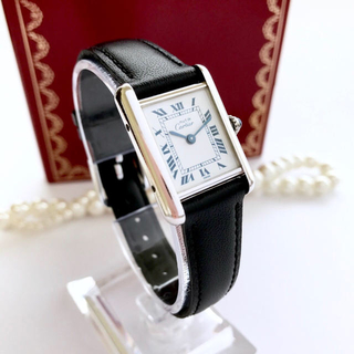 the best attitude 968b1 31201 美品 ベルト新品 ベルト2種 カルティエ タンク レディース 腕時計 シルバー | フリマアプリ ラクマ