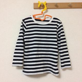 ムジルシリョウヒン(MUJI (無印良品))のボーダーTシャツ(Tシャツ/カットソー)