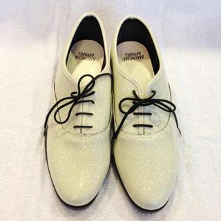 アメリカンアパレル(American Apparel)の送込新品♡アメアパラメフラットシューズ(ローファー/革靴)