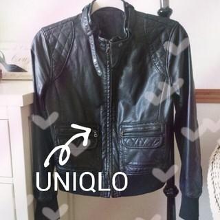 ユニクロ(UNIQLO)のUNIQLOフェイクレザージャケット(ライダースジャケット)