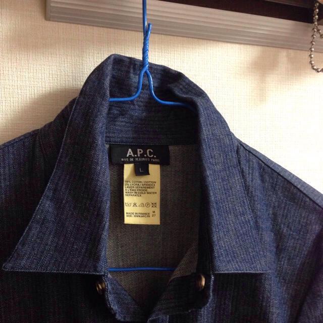 A.P.C(アーペーセー)の*お取り置き* APC デニムシャツ L レディースのトップス(シャツ/ブラウス(長袖/七分))の商品写真