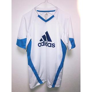アディダス(adidas)のadidas スポーツ Tシャツ ホワイト ブルー(トレーニング用品)