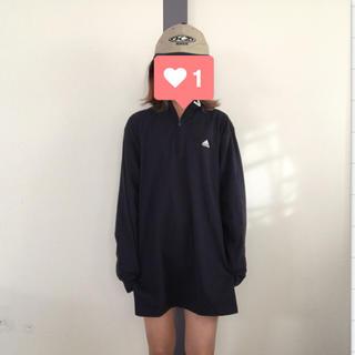 アディダス(adidas)のadidas ロゴ刺繍 長袖TEE(Tシャツ/カットソー(七分/長袖))