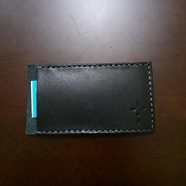 栃木レザー絆創膏ケース(ブラック×カーキ) ハンドメイドのファッション小物(その他)の商品写真