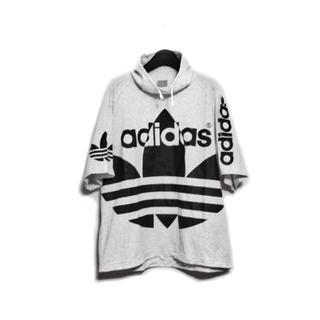 アディダス(adidas)の希少 80's 90's adidas ビッグロゴ ハイネック Tシャツ(Tシャツ/カットソー(半袖/袖なし))