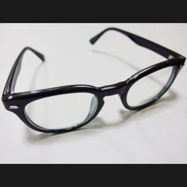 ジョニーデップ 好きに 伊達メガネ サングラス ウェリントン ブラッククリア レディースのファッション小物(サングラス/メガネ)の商品写真
