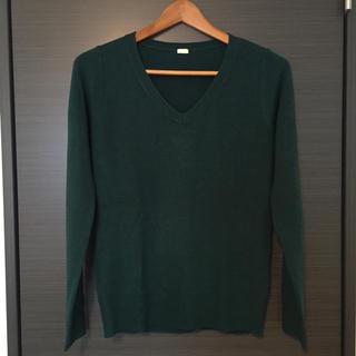 ジーユー(GU)のジーユー*カシミヤタッチVネックセーター(ニット/セーター)