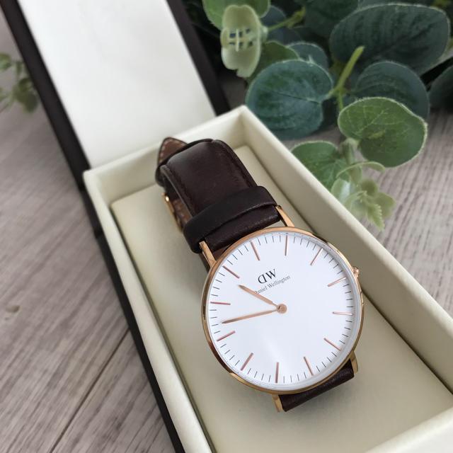 Daniel Wellington(ダニエルウェリントン)のお値下げ⭐️《正規品》DW 腕時計 36mm ダークブラウンレザー レディースのファッション小物(腕時計)の商品写真