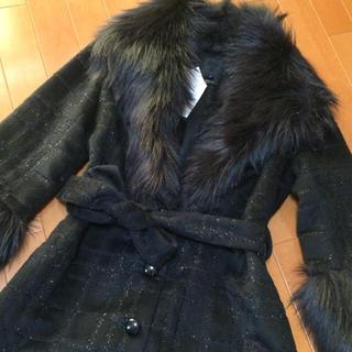 アナスイ(ANNA SUI)のHi様専用 新品 アナスイ コート ブラック ANNA SUI(毛皮/ファーコート)