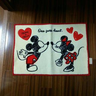 ディズニー(Disney)のミッキー&ミニー 玄関マット(玄関マット)