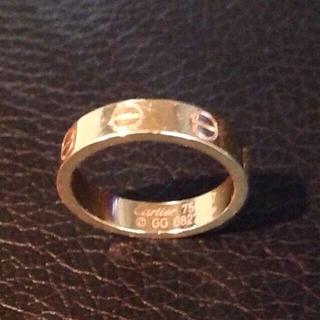 カルティエ(Cartier)のカルティエ ミニラブリング YG(リング(指輪))