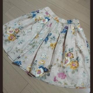 マーキュリーデュオ(MERCURYDUO)の花柄スカート♡MERCURYDUO(ミニスカート)