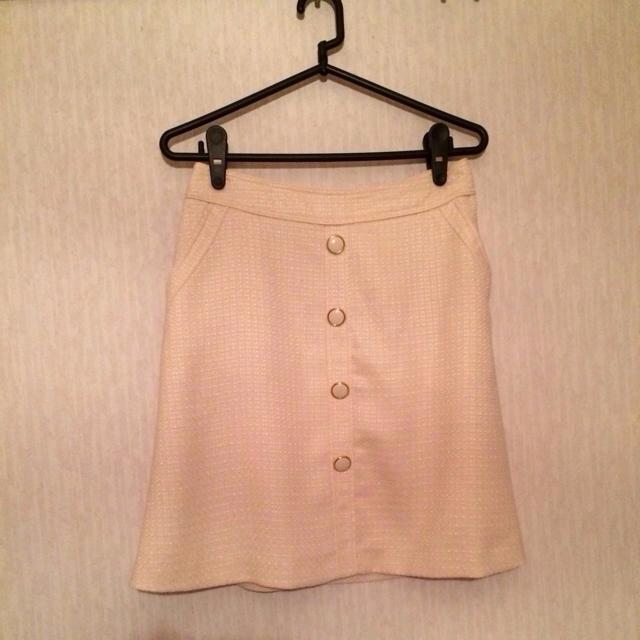 pour la frime(プーラフリーム)の白スカート❤︎ レディースのスカート(ひざ丈スカート)の商品写真