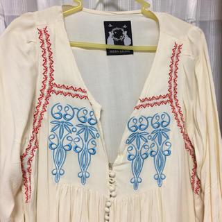 シエラレオン(SIERA LEONE)のシエラレノン 刺繍 ワンピース(ミニワンピース)