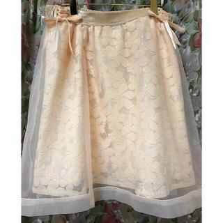 リズリサ(LIZ LISA)のオーガンジー×レースひざ丈スカート(ひざ丈スカート)