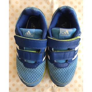 アディダス(adidas)のadidas  18㎝  ブルー、クロ(kumio様用)(スニーカー)