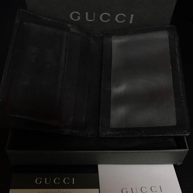 Gucci(グッチ)のGUCCI パスケース レザー ブラック メンズのファッション小物(名刺入れ/定期入れ)の商品写真