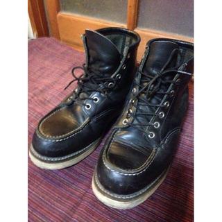 レッドウィング(REDWING)の♪値引交渉可♪レッドウィング モックトゥブーツ黒25.5 *jgmanさま専用(ブーツ)